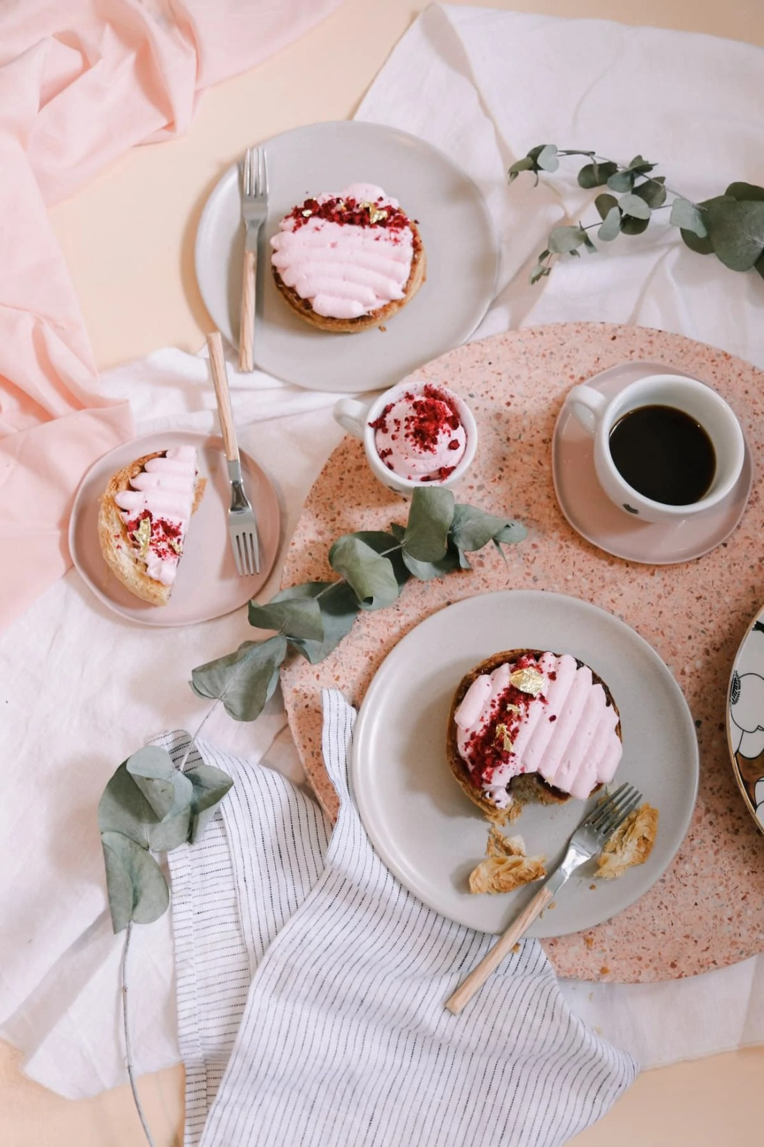 Raspberry Rose Millefeuille Tartelettes