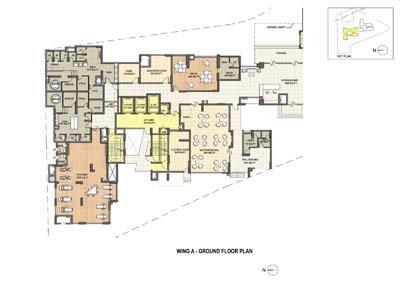 Aparna Elina gated community apartments in yashwantpur Wing A ground floor plan