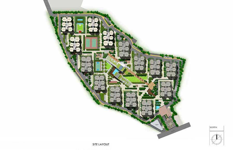 Aparna Serene Park Kondapur Gachibowli Site Layout 2