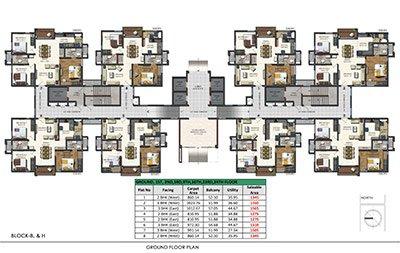 Aparna Sarovar Zenith ground Floor plan