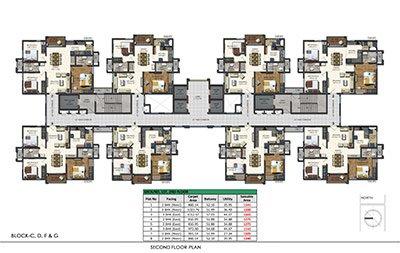 Aparna Sarovar Zenith nallagandla apartment second floor plan