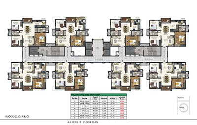 4th 5th 17th 18th and 19th floor plan of aparna sarovar zenith nallagandla