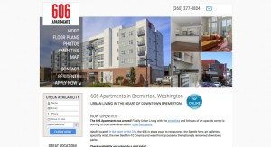 Metro apartment website design