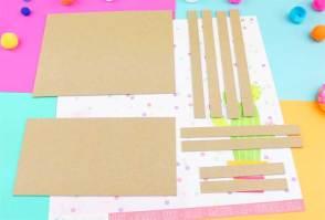 cardboard pieces notebook