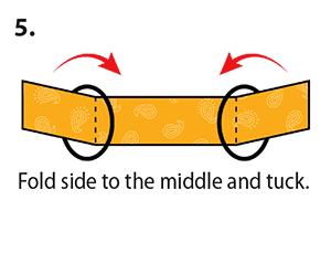 doblado de tela para cubrebocas