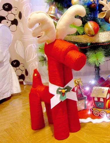 manualidades para navidad con lana