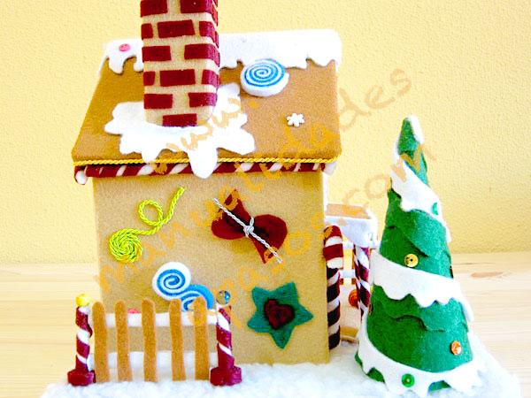 Adornos de navidad con fieltro
