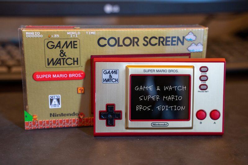 マリオが35歳なので記念の『GAME&WATCH SUPER MARIO BROS.ver』を買いました