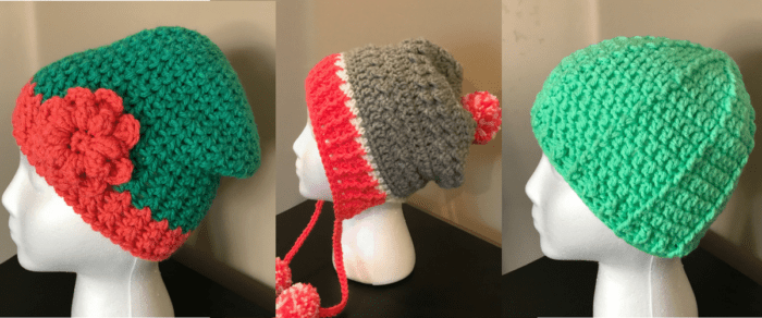 Three Quick Easy Crochet Hats for Winter
