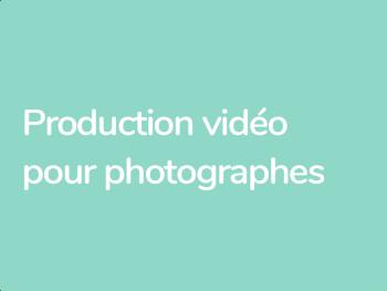 Formation en 10 jours pour photographes réalisateurs qui veulent passer à la vidéo numérique