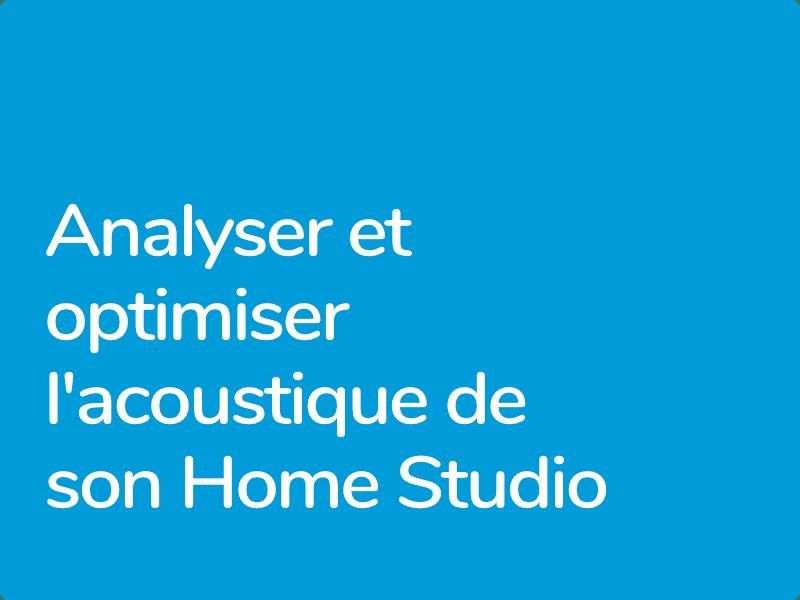 Acoustique en Home Studio, formation éligible au CPF