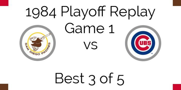 1984 Playoff Replay – NLCS Game 1 – Padres vs Cubs