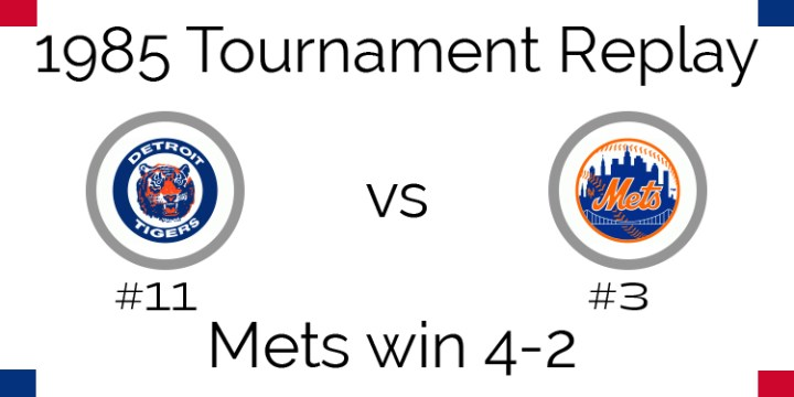 1985 Tournament Results – Mets beat Tigers in 6 games