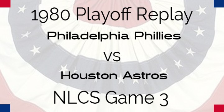 1980 Playoff Replay – NLCS – Game 3 – Phillies at Astros