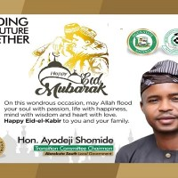 Hon. Ayodeji Shomide Felicitates with Muslim Faithful and Advise them on Preventive Measures during the Eid-El-Kabir Celebration
