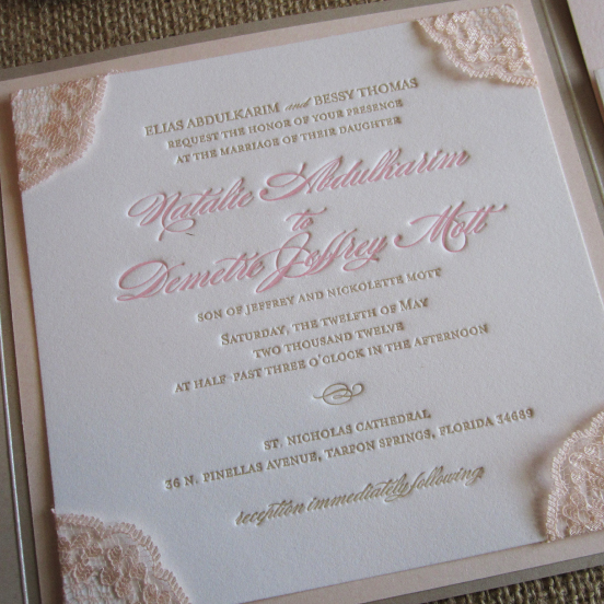 Kraft String Tie Pocket Wedding Invitation Folder