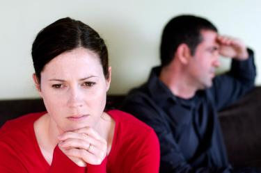 Couple facing disconnection after an emotional affair is discovered