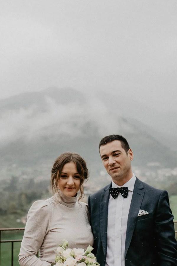 Wedding shot in a foggy day