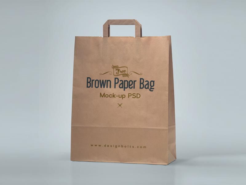 Download Brown Paper Bag Mockup | Free Mockups, Best Free PSD ...
