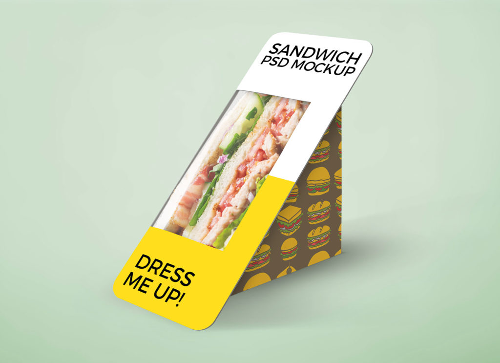 Download Free Sandwich Packaging Mockup PSD | Free Mockups, Best ...