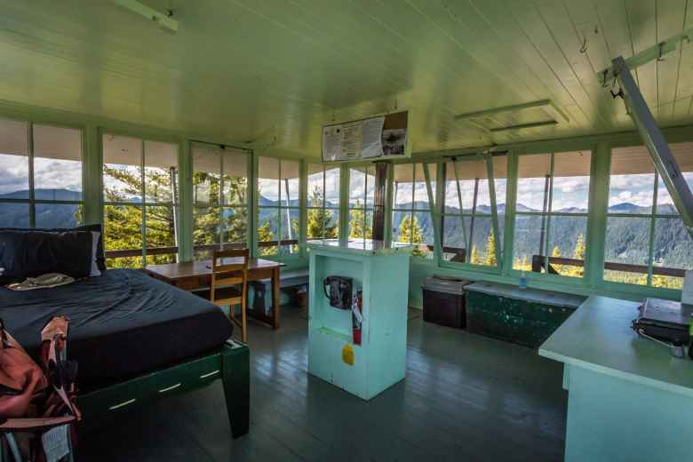 Inside Gold Butte Lookout Tower