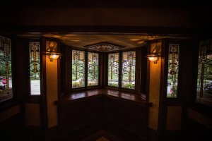 Living Room Windows in Frank Llyod Wright's Frederick C. Robie House