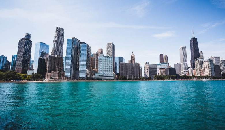 Chicago's Cityscape View by the Bay