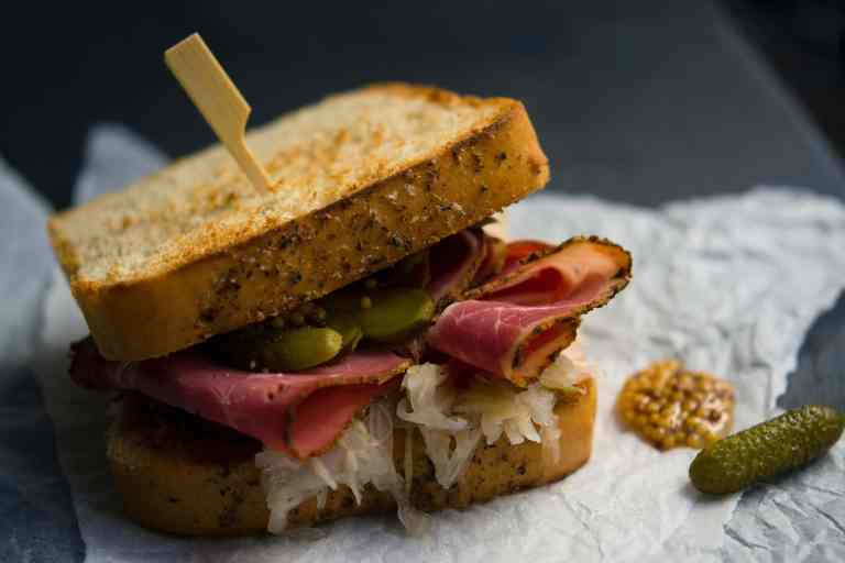 Pastrami and Pickle Sandwich