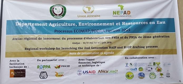 Agriculture/CEDEAO : l'élaboration des PNIA et du PRIA a été lancée.