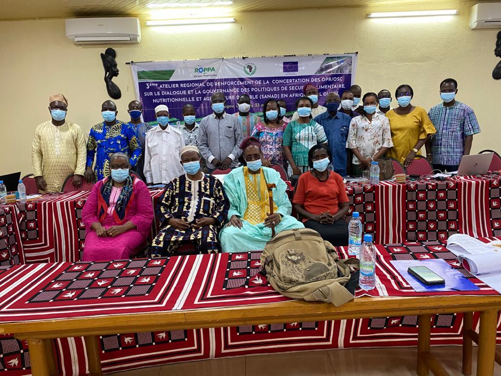 Sécurité alimentaire, nutritionnelle et agriculture durable (SANAD) en Afrique de l'Ouest et du Centre : Des OPR et OSC se sont concertées autour.