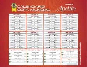 calendario copa mundial apetito