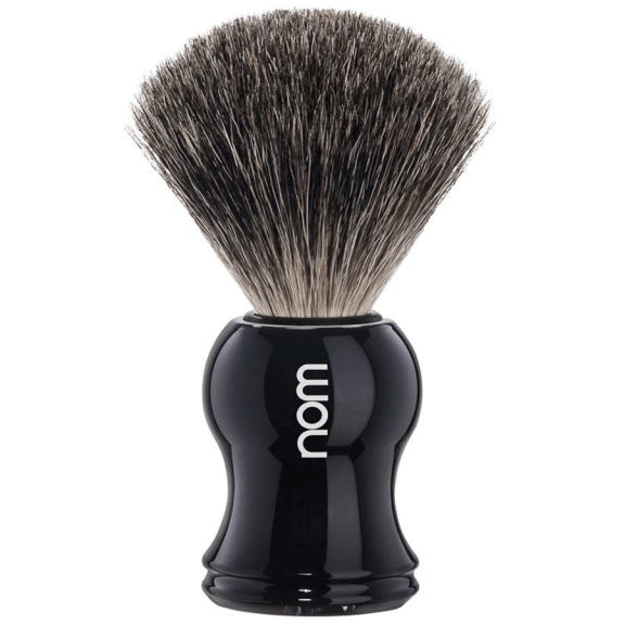 GUSTAV81BL-NOM-GUSTAV,-BLACK,-PURE-BADGER-SHAVING-BRUSH