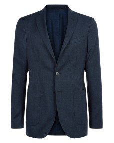 241011W Jaeger Slim Super 120 Flannel WASHABLE Jacket (Navy) -ú250.jpg