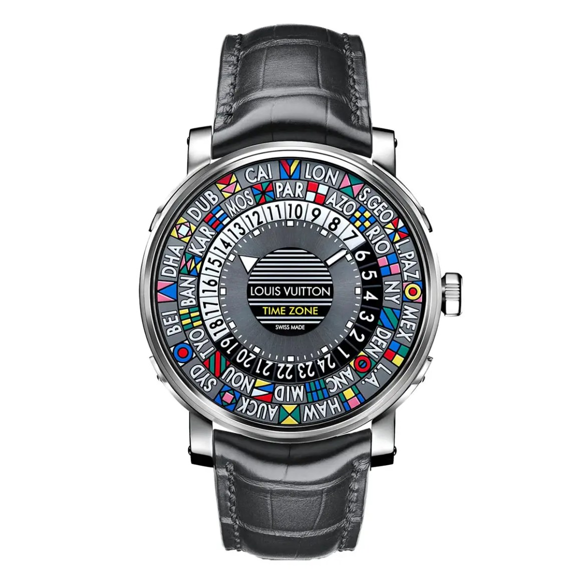 Louis Vuitton Escale Time Zone 39 Men's Fashion Watch