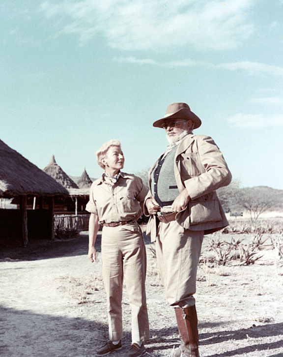 Mary and Ernest Hemingway in 1953 on safari in Kenya