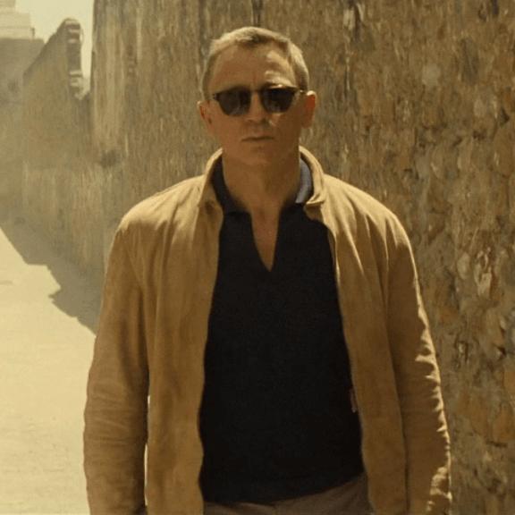 Daniel Craig wears a Matchless suede jacket in SPECTRE