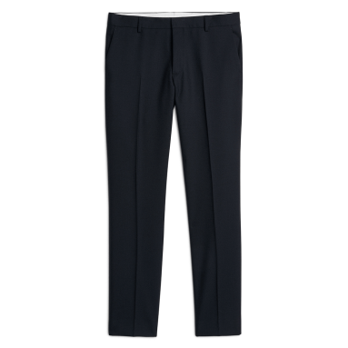 Arket-Slim-wool-hopsack-trousers-navy