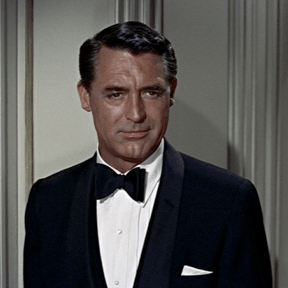 Cary Grant owning Black Tie