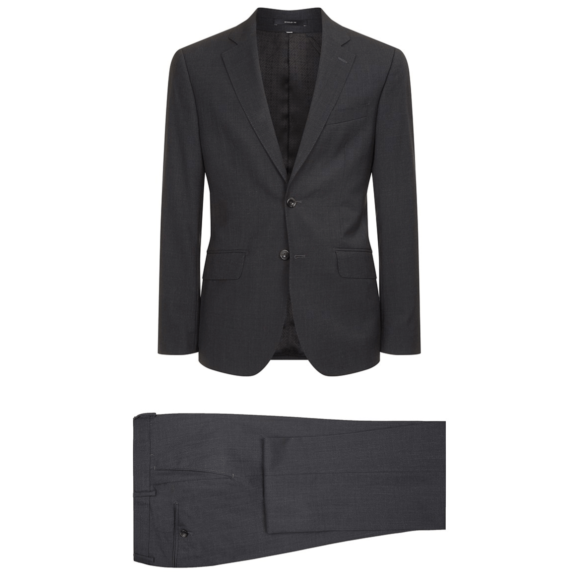 Hardy Amies Charcoal Tropical Wool Suit