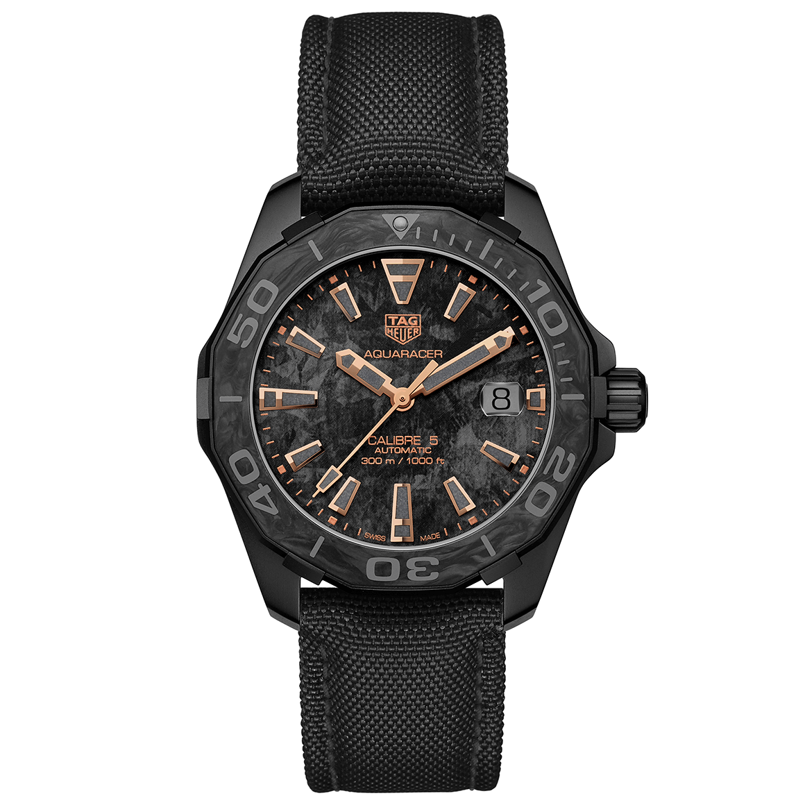 TAG Heuer Aquaracer Carbon professional diving watch