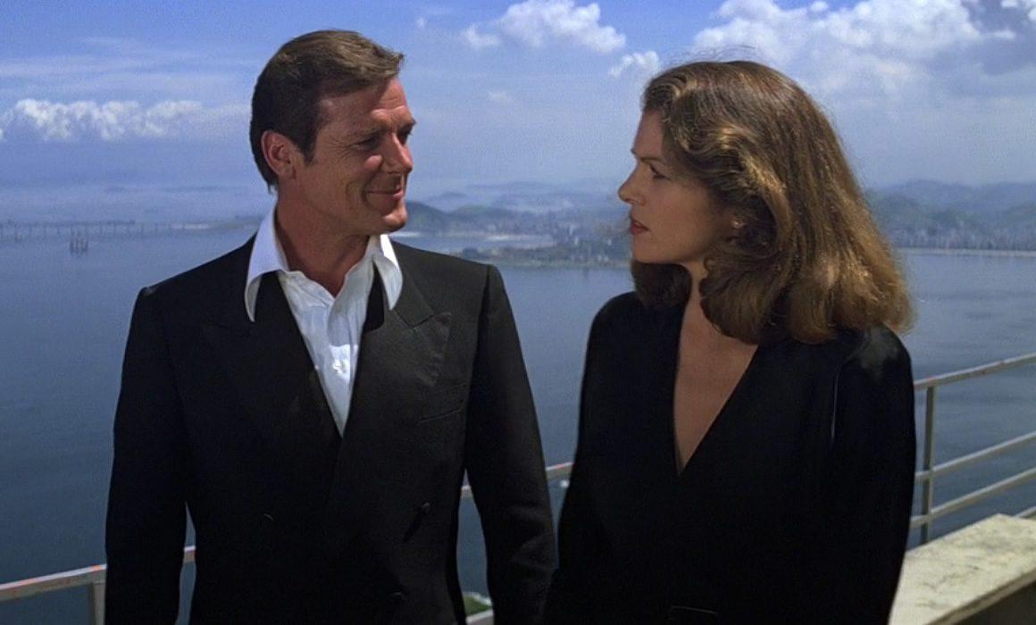 Roger Moore as James Bond wearing a Dinner Suit in Moonraker
