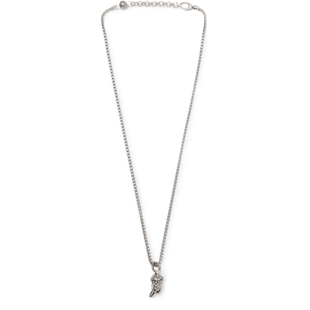 Gucci Eagle's Head Sterling Silver Necklace