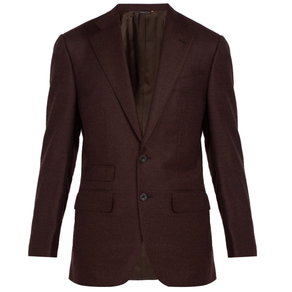 Thom Sweeney Single-breasted wool and cashmere-blend blazer, £1,100 >