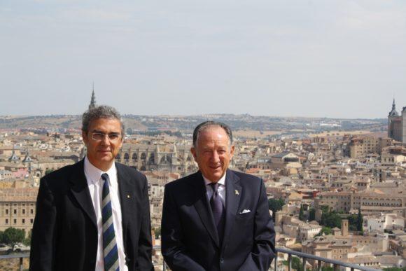 Ernesto Estévez y el General Félix Sanz Roldán