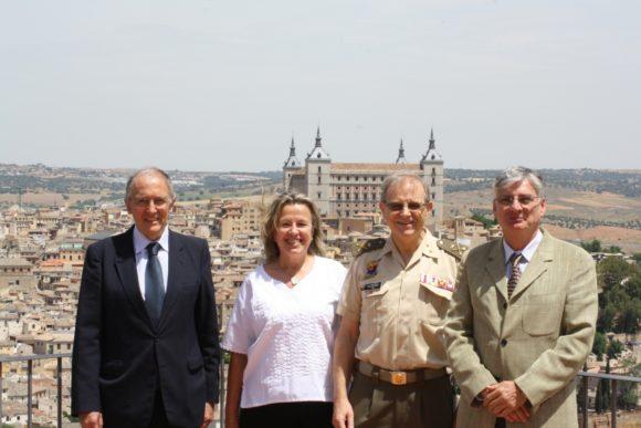 Francisco Javier Casas, Georgina Higueras, General Miguel Ángel Ballesteros y Fran Sevilla