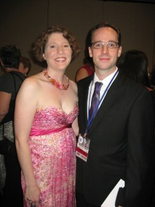 Lynne M. Thomas and Michael D. Thomas Dressed Up for the Hugos