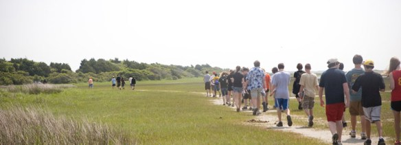 On the Beaufort field trip, freshmen learn about testing the levels of various statistics in the ocean water, and how they compare to a similar ocean on the West Coast.