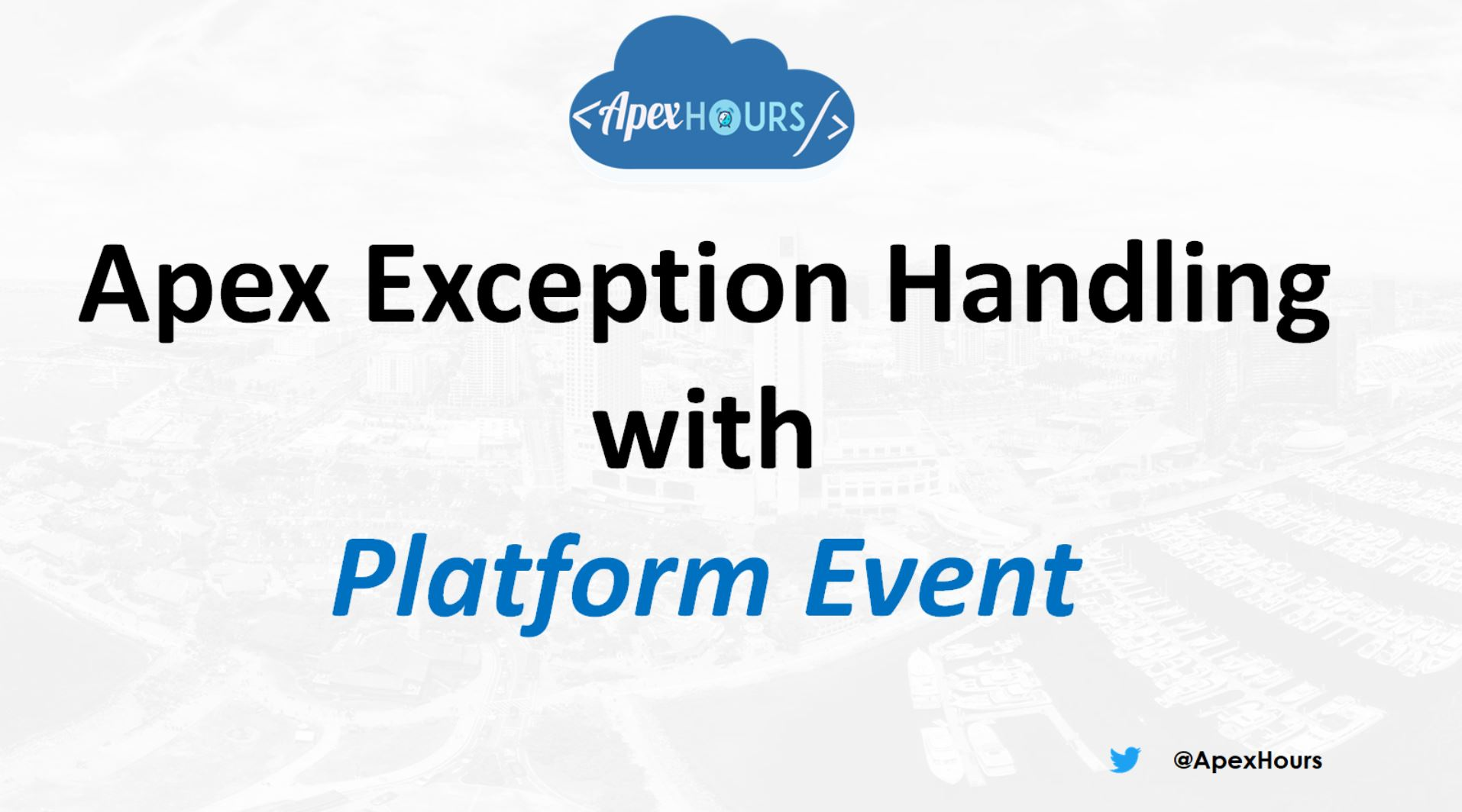 Exception handling with Platform Event