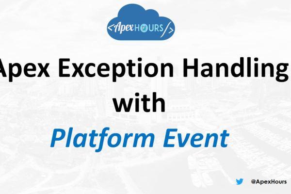 Exception handling with Platform Event