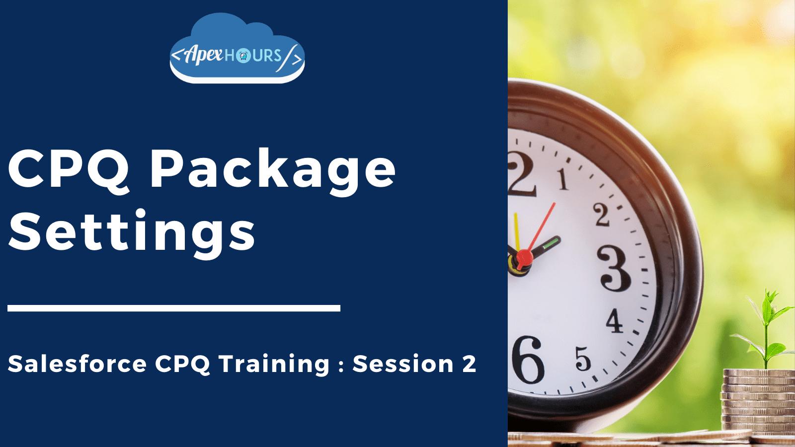 CPQ Package Settings